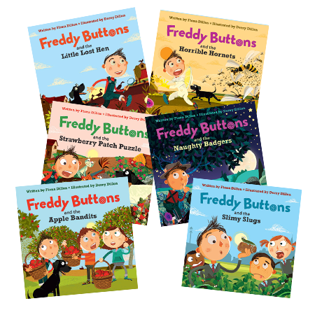 Freddy Buttons  Set of 6