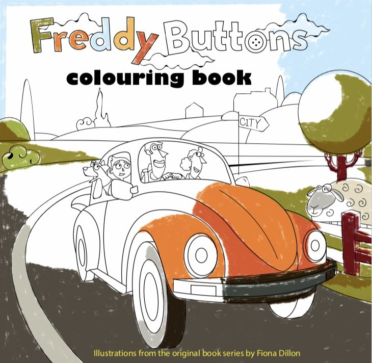 Freddy Buttons Colouring Book