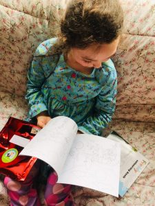 Somebody loves their new colouring book – June 2020